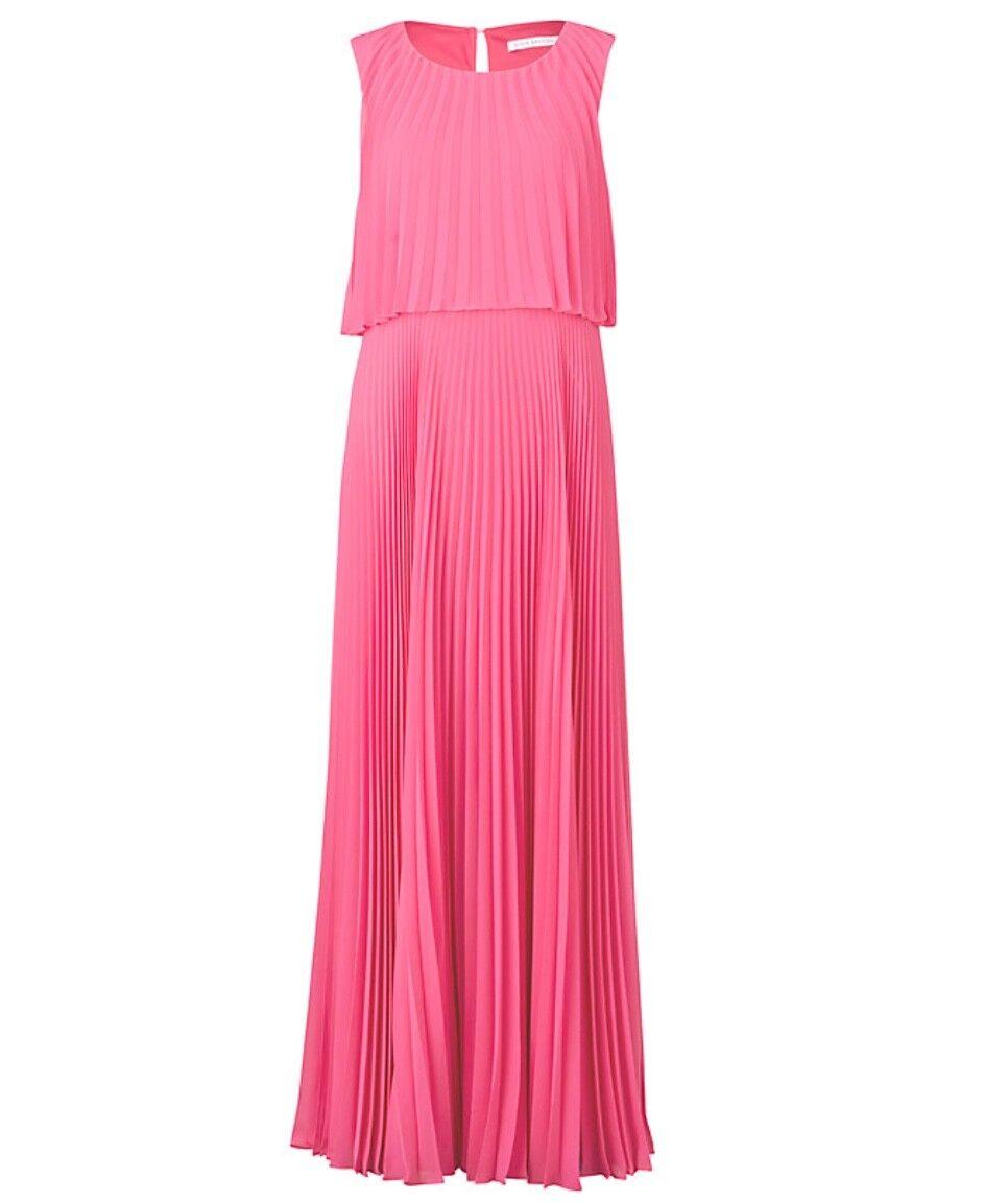 Gina Gina Gina Bacconi Pleated Style Maxi Dress, size 10 7f02a5
