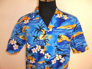 vintage FALKSSON Hawaii Hemd surfer party shirt 90s oldschool Baumwolle XL
