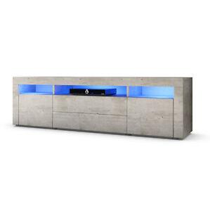 Tv Lowboard Board Schrank Tisch Mobel Regal Santa Fe 166cm In Beton