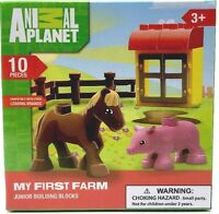 Animal Planet My First Farm 10 Piece Junior Building Blocks Set