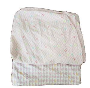 Pottery-Barn-Kids-100-Organic-Cotton-Fitted-Crib-Sheet-LOT-2-pink-purple