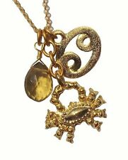 DAVID AUBREY CANCER GOLD PLATED CRAB ZODIAC NECKLACE SALE RRP £35