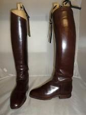 *VINTAGE KEMPKENS LEATHER LONG RIDING BOOTS- UK 6-TALL NARROW CALF W/ TREES*
