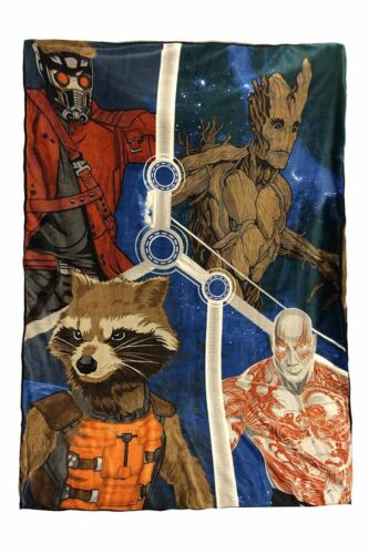 """Marvel The Guardians of the Galaxy Blanket Oversized Throw 62/"""" x 90/"""" Raccoon"""