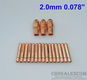 """20 pcs 13N29 Collet Body and 13N24 Collet for Tig Welding WP-9//20//25 3.2mm 1//8/"""""""