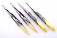 """TC Micro Castroviejo Needle Holder Straight STR 6"""" 16cm Tungsten Carbide implant"""