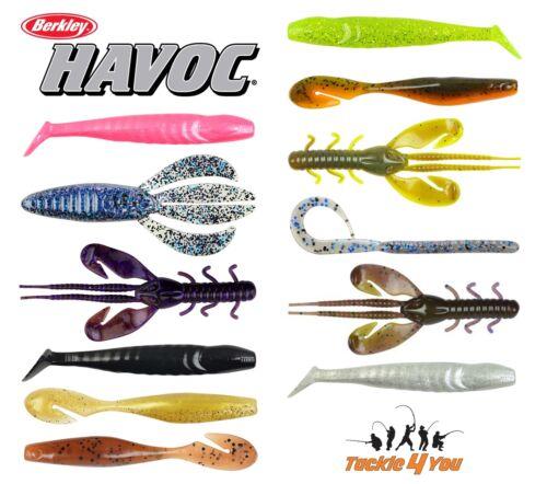 12 Different Types. Berkley Havoc Soft Baits Bundle Sea /& Game RRP £70.00