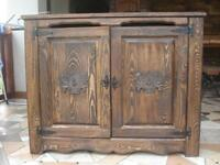 Wooden Blanket Storage Cabinet Trunk Unit Vintage Chest Shelve Furniture (am2)