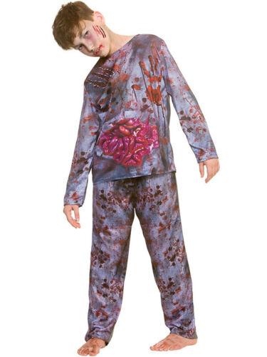Boys Zombie Costume Kids Halloween Fancy Dress Horror Undead Child Walking Dead
