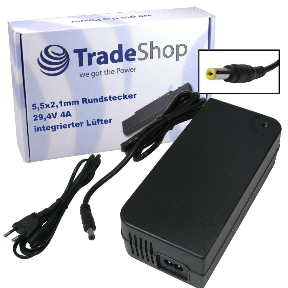 Cochegador fuente alimentación 4a para 24v 5,52,1mm baterías sustituye a hp1202l2 + está activo el ventilador