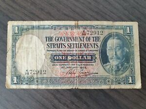 Old-banknote-from-Straits-Settlements-1-dollar-1935