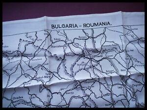 WWII Piloti Raf Seta Escape E Evasion Mappa Singolo Lati,Bulgaria,Romania Scarpe