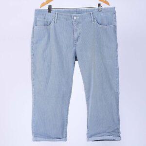 Levi-039-s-Capri-Roll-on-Out-Plus-Groesse-Damen-striped-Jeans-Groesse-20W