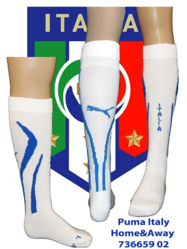 Italy Home & Away Socks White;UK 68;US 79; Euro 3942; Adults POWERCAT