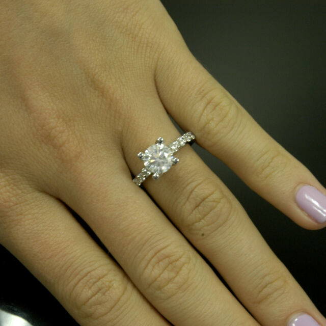 2.18tcw Round Cut Diamond Solitaire Engagement Ring SI1 Clarity F Color 14k  Gold 2c1f06ad0e7c