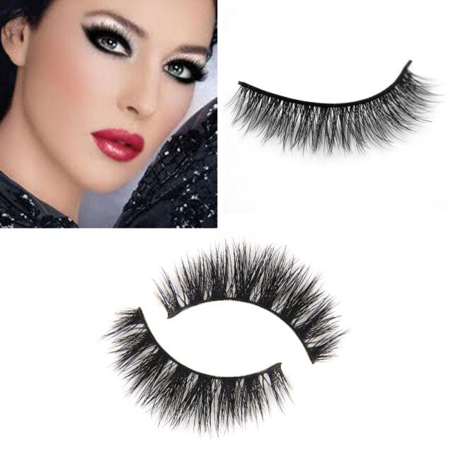 c00feeec1a7 Thick Long Natural Soft Black 100% Real Mink Makeup Eye Lashes False  Eyelashes