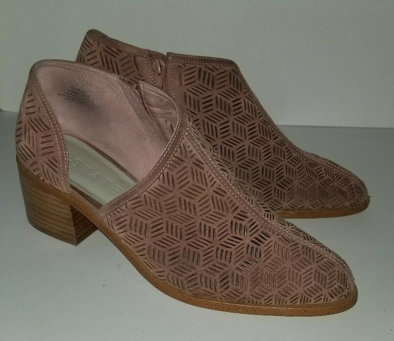 1. State blush nude suede perforated cutaway Iddah bootie. 9.5 10