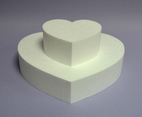 Poliestireno 2 corazones set 25 12 x 8 cm Cake cumpleaños Dummy pastel übungstorte DIY