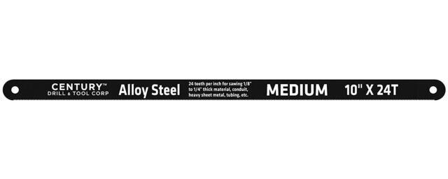 Century Drill 04329 Carbon Alloy Steel Hacksaw Blades 10 Inch 24 teeth
