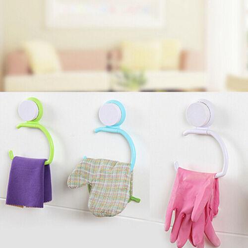 Bathroom Towel Kitchen Suction Multifunctional Clothes Storage Hangers Rack