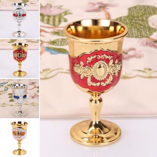 Metal Wine Goblet Cup Drinking Glass Cocktail Beer Whiskey Mug For Home Party