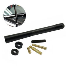 Screw 47inches Car Antenna Carbon Fiber Radio Fm Antena Black Kit Black Us