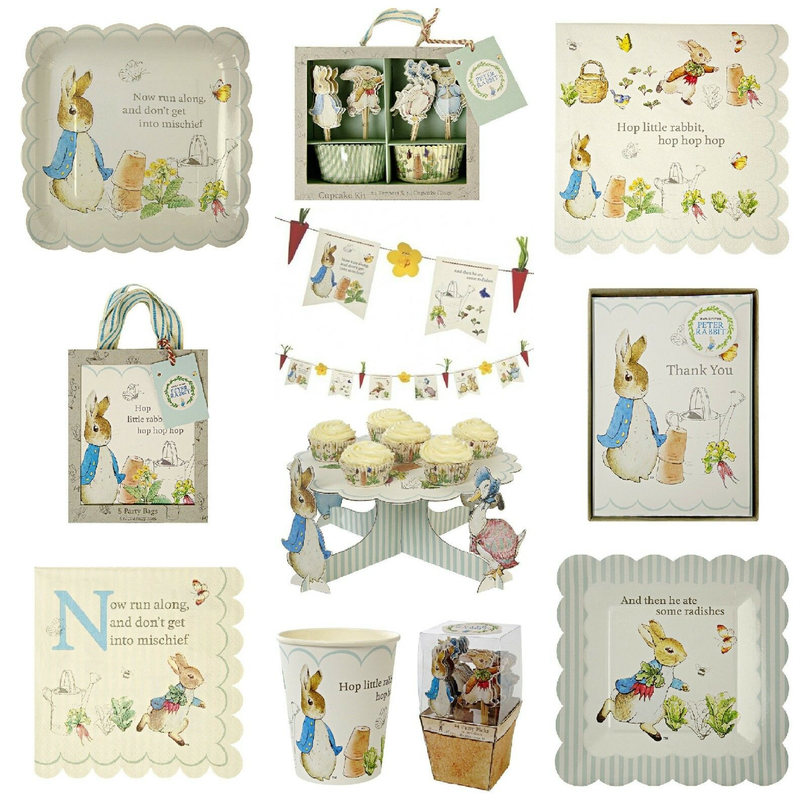 Peter Peter Peter Rabbit Birthday Party, Baby Shower, Easter Tableware & Decorations Bundle f4c75e