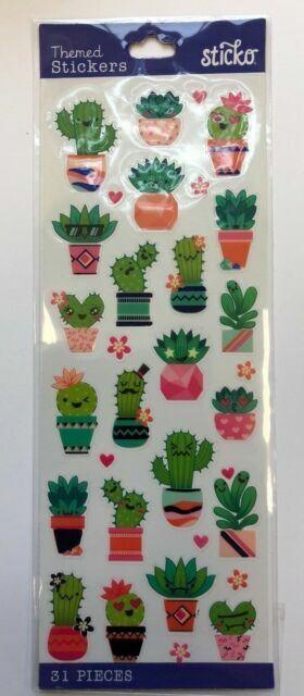 Cute Cactus Stickers Original Hand Made