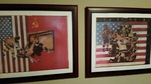 Peter Max'Miracle On Ice' 2PcSet Us-Soviet $1000 is1/2offPeterMaxs only 2pc set