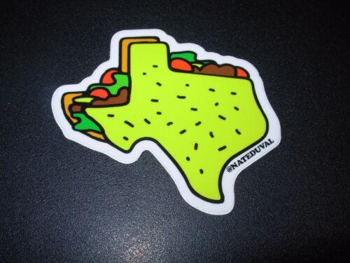 "NATE DUVAL 3/"" Texas Taco STICKER Art poster print skateboard skate"