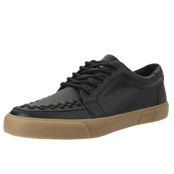 T.U.K. A9216 New Rare Men Shoes Black Leather & Gum Sole Vlk Creeper Sneaker
