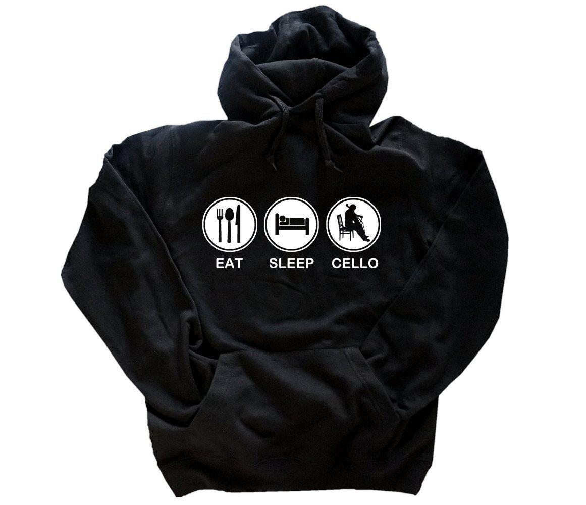 EAT SLEEP Cellospieler Cello Cellist Musik  Kapuzen-Sweat-Shirt S-XXL