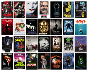 Image is loading Horror-Movie-POSTER-OPTIONS-A3-A4-WALL-ART-  sc 1 st  eBay & Horror Movie POSTER OPTIONS A3 A4 WALL ART Collection 1 BUY 1 GET 2 ...