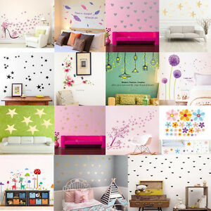 Flowers-Removable-Wall-Stickers-Decal-Art-Vinyl-Flower-Mural-Home-Room-Decor-DIY