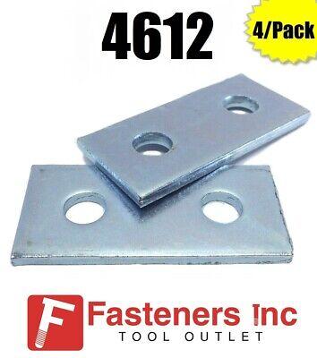 B-Line Channel 4//Pack P1065 2 Hole Flat Splice Plate for Unistrut 4612