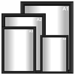 fcf66153dae BLACK ALL SIZE COLOUR SNAP FRAMES POSTER CLIP HOLDERS RETAIL ...