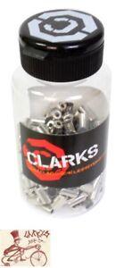 CLARKS 4MM PLASTIC GEAR HOUSING BLACK FERRULES--150 IN A BOTTLE