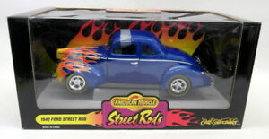 Ertl-1-18-Scale-diecast-car-7937-1940-Ford-Street-Rod-with-Flames-Model-Car