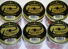 PAUTZKE BAIT CO. BALLS O' FIRE GOLD LABEL SALMON EGGS 6 PACK FISHING BAIT RED