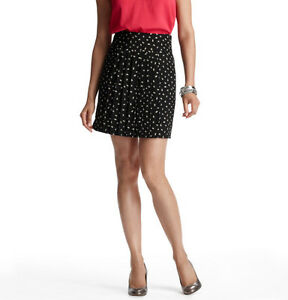 Hearty Ann Taylor Loft Wispy Feathers Pleated Front Fluid Skirt Size 4, 10, 12 Black Preventing Hairs From Graying And Helpful To Retain Complexion