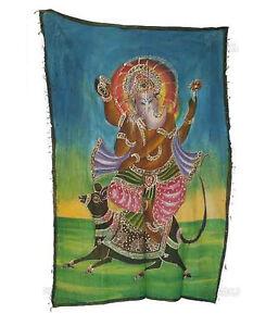 Batik Arazzo Ganesh Elefante 115x 74cm Artigianato India Peterandclo 8822