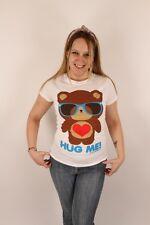 Loungefly Small Hug Me! $32.50 T-Shirt Tee Top White Teddy Bear Heart Cute Fun