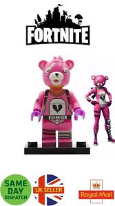 Fortnite Cuddle Team Leader Mini Figure Epic Skin Hammer Gaming Pink UK Seller