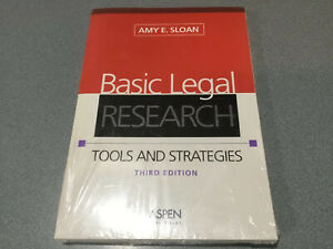 Aspen Coursebook Basic Legal Research Tools And Strategies By Amy E Sloan Ebay