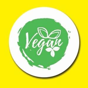 Image Is Loading VEGAN ROUND LABELS CIRCLE STICKERS MATT GLOSS CLEAR