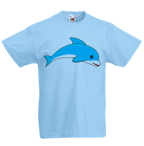 Dolphin Kid/'s T-Shirt Children Boys Girls Unisex Top