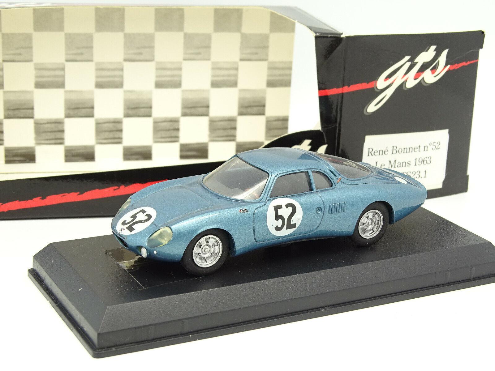 GTS 1 43 - Rene Bonnet Le Mans 1963 N°52