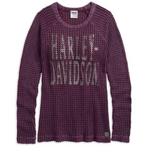 Loose con lavato Raglan davidson® Weave 18vw 96071 Women's acido Harley Maglione gwEPSB