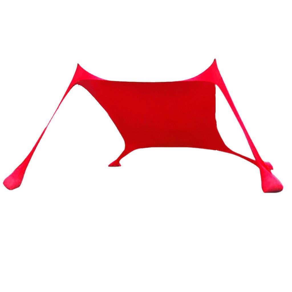 Sunshade Beach Tent Tarp Shelter WindUV Prossoection Canopy  Seborsas, Poles