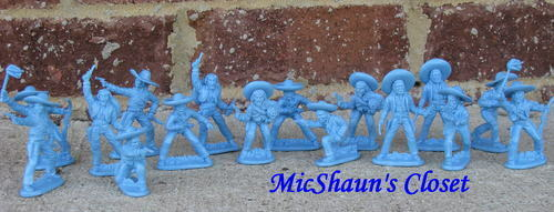 NEW STEVE WESTON MEXICAN BANDITOS 54MM 1:32 ALAMO PLAYSET TOY SOLDIERS BANDITS